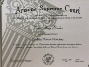 Jane Anne Geisler - Certified Private Fiduciary