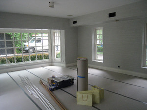 New wood floors before they were stained