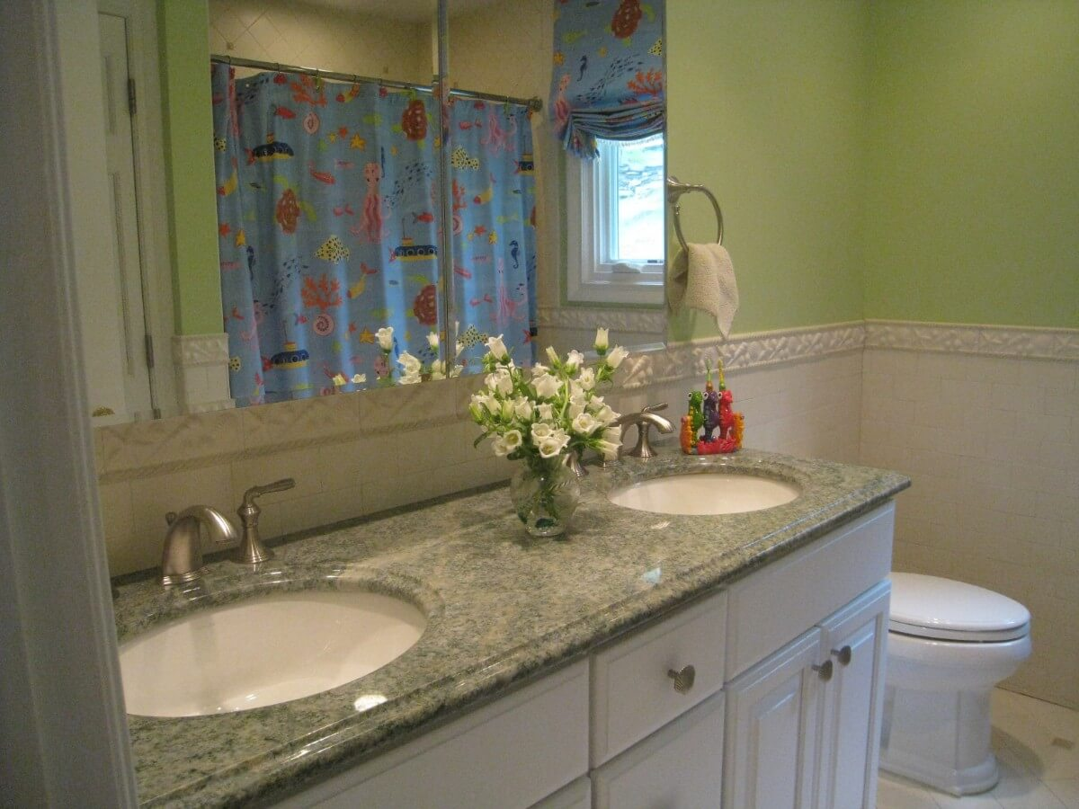 Girls Bathroom Remodel by Susan Marocco Interiors - Harrison NY 1540