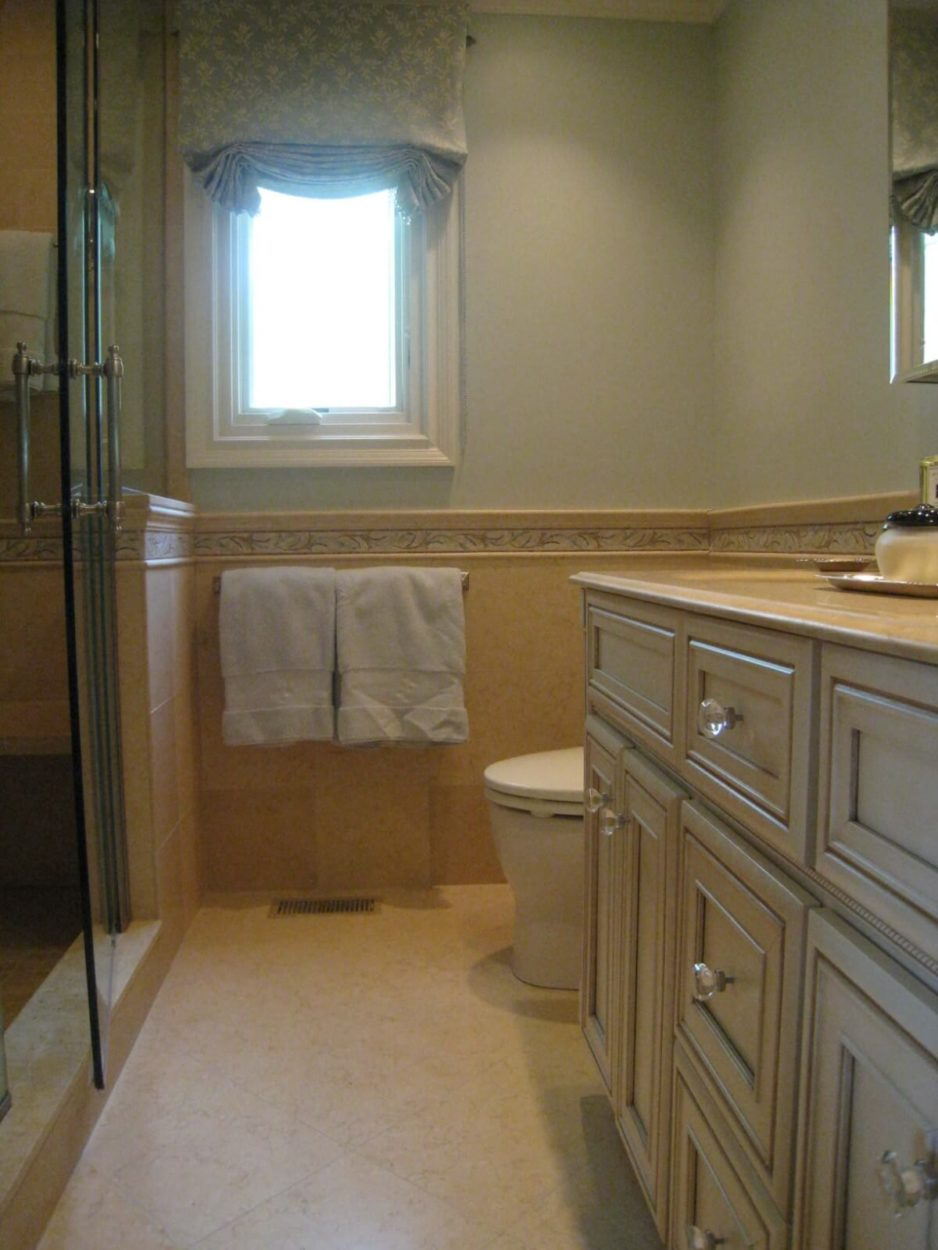 Master Bathroom Remodel by Susan Marocco Interiors - Harrison NY 1522