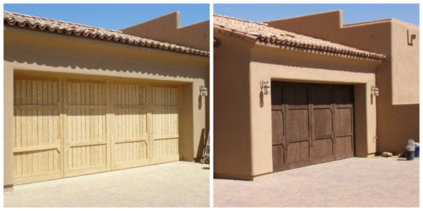 Garage exterior painting by Kino's Painting & Remodeling