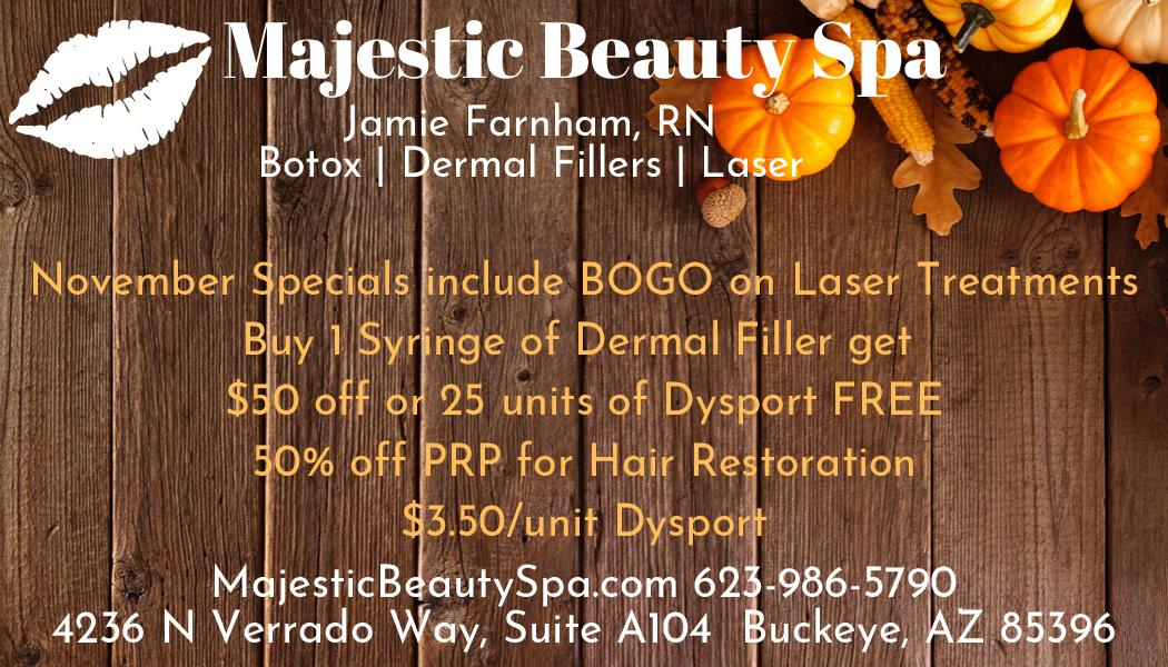 Majestic Beauty Spa November Specials