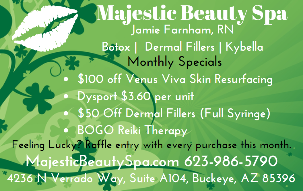 Majestic Beauty Spa March 2020 Specials
